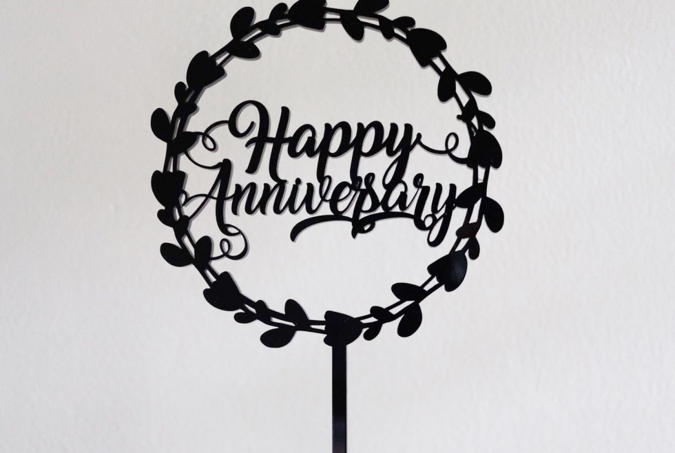 Ready stock acrylic Happy Anniversary